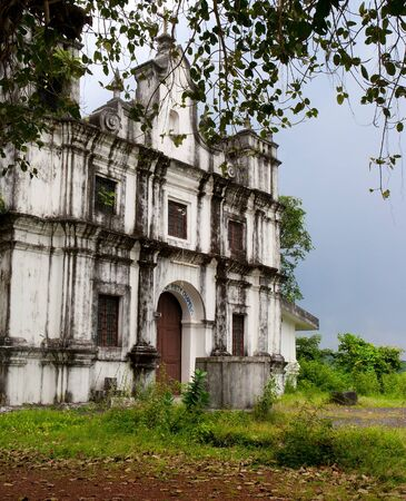Old catholic church in Goa. Heritage of Portuguese colony.. India photo