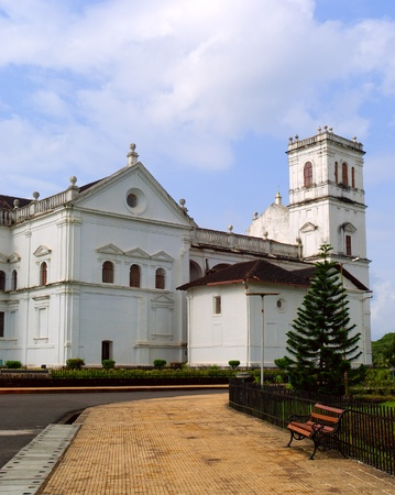 St Catherine Cathedral catholic church in Old Goa  Heritage of Portuguese colony   India photo