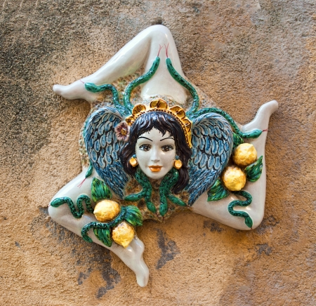 Medusa- popular ceramics souvenir from Sicily  Italy