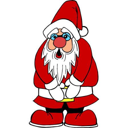 Santa Claus need toilet Illustration