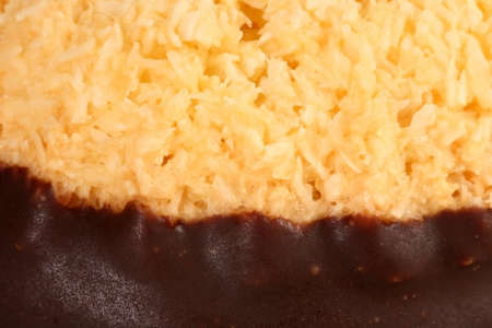 detailed view: Detailed view on christmas cocos cake Stock Photo