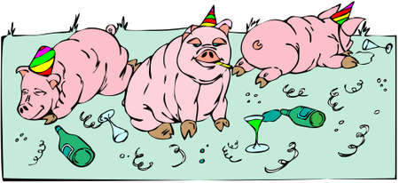 Celebrations of 2008 - 2009 by pink pigs