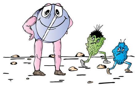antibiotic pill: Antibiotic pill against two bacilluses