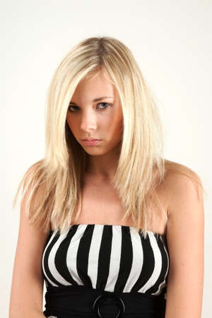 Teenage girl has a hard times Stock Photo - 3993689