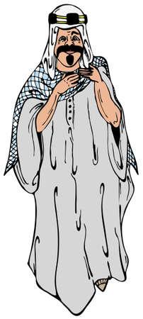 Saudi arabia man in traditional clothes vector illustration Stock Vector - 4236538