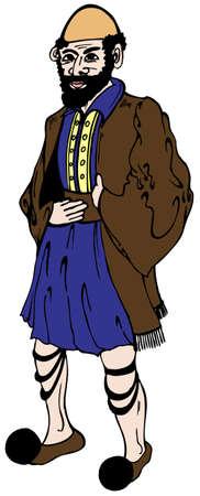 grecian: Grecian in traditional clothes vector illustration