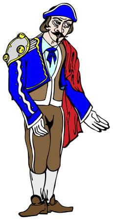 torero: Stierk�mpfer in der traditionellen Drees Vektor-Illustration
