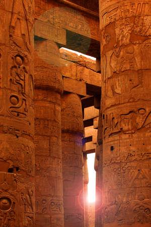 Sunlight shining in Karnak Temple, Egypt