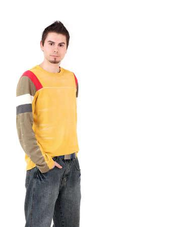 Portrait of young man, studio shot photo