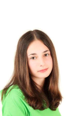 Portrait of young teenage girl, studio shot