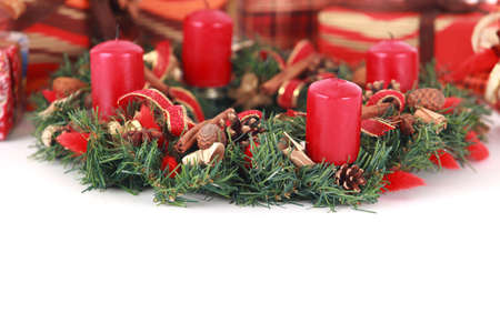 Close-up of advent wreath with copy space, studio shot Stock Photo - 6068628