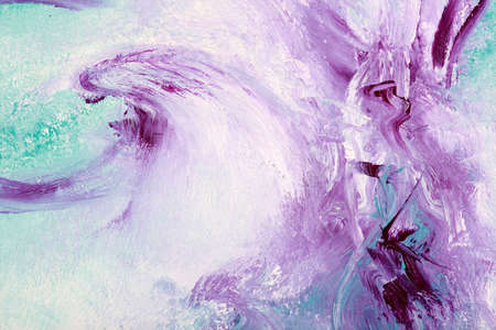 Oil painting with deep violet colors photo