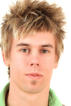 Close-up portrait of young man, studio shot