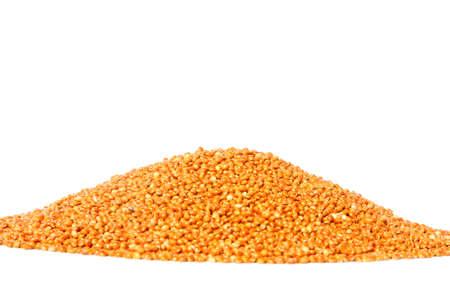 A pile of millet seeds (Panicum miliaceum)