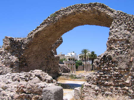 Las ruinas de antiguas ciudades griegas, la isla de Kos, Grecia, Foto de archivo - 5264260