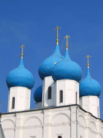 Cupola of orthodox church on a background of sky Stock Photo