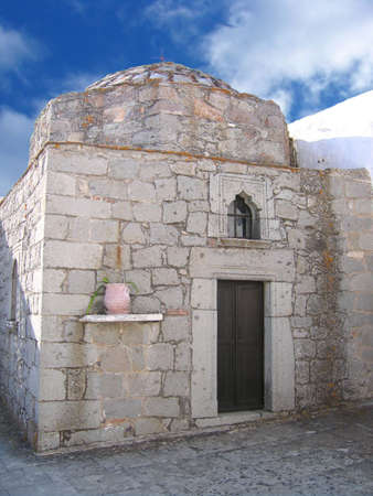 Chapel in Monestary of St. John the Theologian on the island of Patmos, Greece. Unesco World Heritage site photo