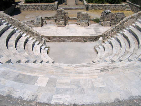 Ruins of the Greek Theater. Island of Kos, Greece photo