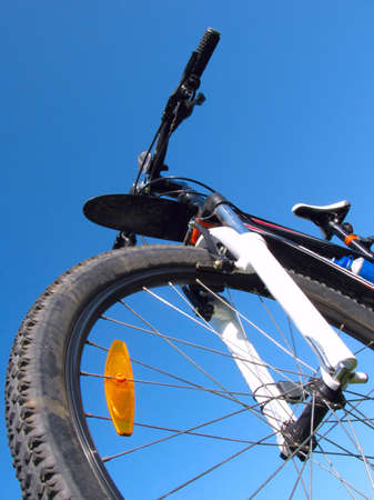 Mountain bike on the background of clear sky Stock Photo - 5596756