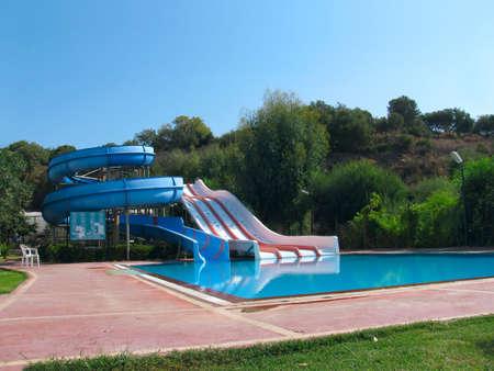 Water slides in summer resort photo
