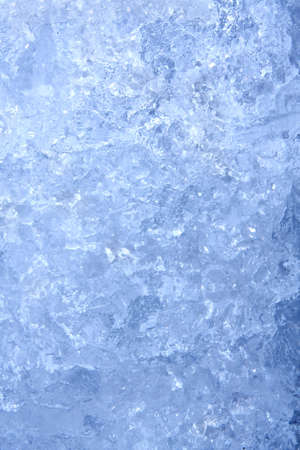 Full frame ice background, frozen water, blue photo