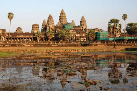 Angkor Wat - ancient Khmer temple in Cambodia. UNESCO world heritage site 免版税图像 - 6642841