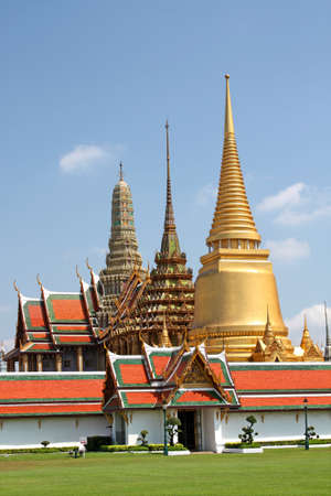 Temple of the Emerald Buddha (Wat Phra Kaew) in the Royal Palace in Bangkok, Thailand Stock Photo