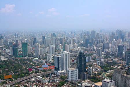 Aerial view of Bangkok from Baiyoke Sky Tower Stock Photo