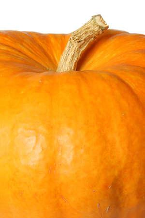 Ripe orange organic pumpkin. Isolated on white