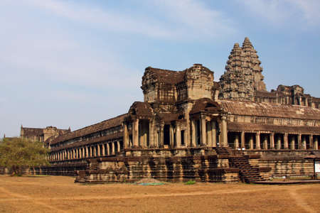 Angkor Wat - ancient Khmer temple in Cambodia. UNESCO world heritage site