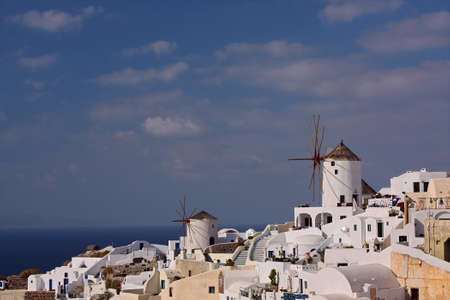 View at the village at greek island of Santorini photo
