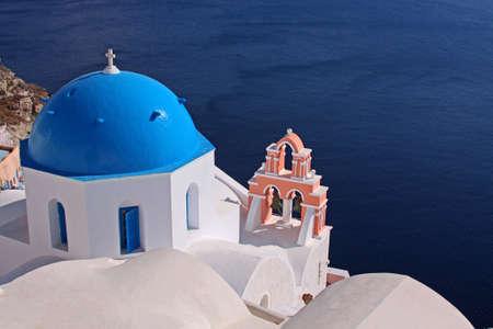 santorini greece: Orthodox church on the island of Santorini, Greece