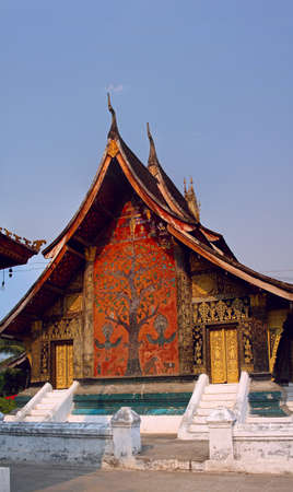 Buddhist temple Xieng Thong in Luang Prabang, Laos photo