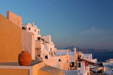 View at the village at greek island of Santorini photo