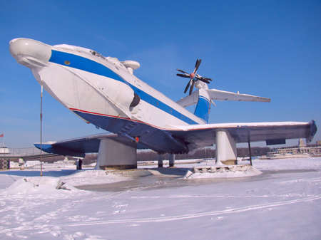 Seaplane, Frozen in ice  photo