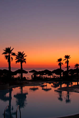Sunset in a tropical paradise