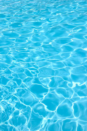Rippling water in a pool  Bright blue water