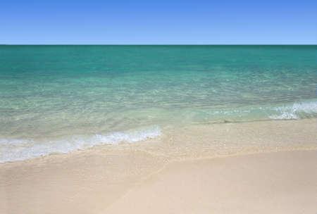 arena blanca: Tropical white sand beach and  turquoise sea