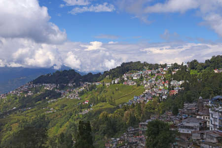Cityscape of Darjeeling, West Bengal, India Stock Photo - 38916541