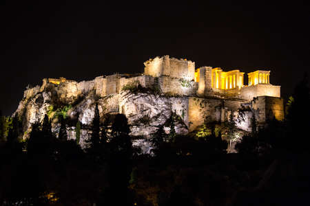 Night view to the Acropolis