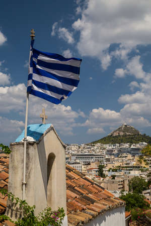 View to Lycabettus hill from Acropolis