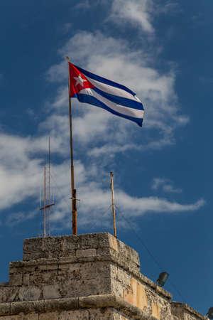 Cuban flag in El Morro fort