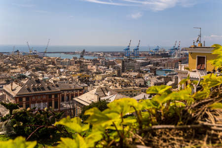 View a traditional mediterraneancity. Genoa, Italy