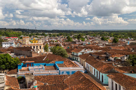 View to the roofs of an old colonial town. Sancti Spiritus, Cuba