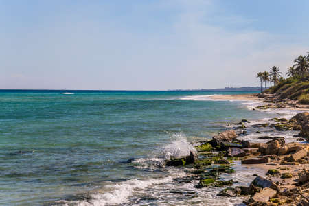 Rocky seashore of a tropical island