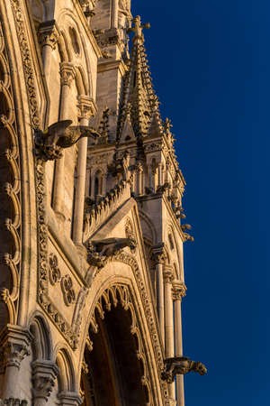 Architectural details of a gothic cathedral