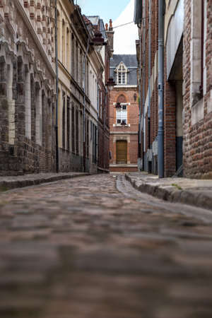 Old street in the historical part of Lille, France