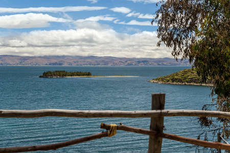 View at the Titicaca lake from Isla del Sol, Bolivia
