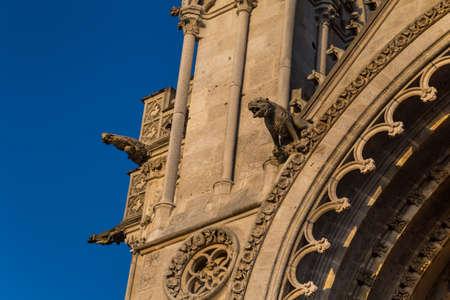 Gargoyles on a gothic cathedral 免版税图像