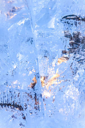Ice background. Backlit with the sun 免版税图像